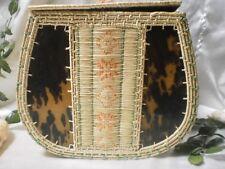 Vtg Fine Handcraft Basket Purse Box Vessel Micronesia Marshall Isle Exotic Rare