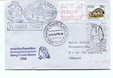 Polarstern Mikhail Forster Station MAITRI Indian Polar Cover REGISTERED SIGNED