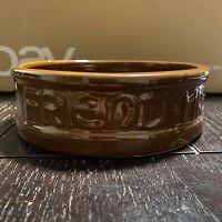 Vintage Authentic 1930 McCoy Dog Bowl Dog Dish Water Feeder Brown Glaze Mint