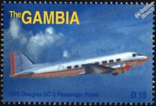 1935 DOUGLAS DC-3 Airliner Aircraft Stamp (2003 Gambia)