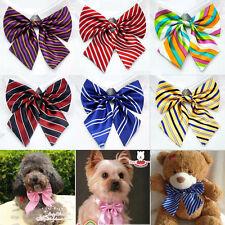 Lot 100 Pcs Floral Puppy Silk Bow Ties Bowtie Poodle Pet  Dog Adjustable Necktie