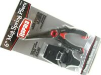 """Rapala RMSPP6 Black 6"""" Mag Spring Stainless Fishing Pliers w/ Line Cutter"""
