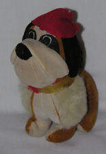 "Vintage 1960s JAYBEE Joseph Boxer Dog with Red Beret Plush Stuff Animal Japan 6"""