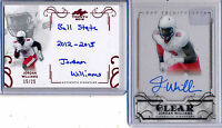 JORDAN WILLIAMS - 2016 Trinity AUTO Lot Clear & RED Inscription /25  Patriots RC