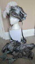 Ladies silk Hat Sash and reticule bag Regency Napoleon Jane Austen Reenactment