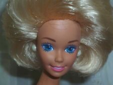 Barbie With 80's Sculpt Face & Big Blonde Hair Nude Newly Unboxed~ Free U.S Ship