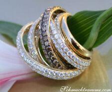 Echtschmuck-Ringe mit Brillantschliff 56 für Damen (17,8 mm Ø)
