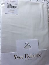 Yves Delorme TRIOMPHE BLANC SATIN KING DEEP FITTED SHEET