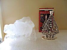 "Vintage Studio Silversmiths Silver Plated Christmas Tree Candle Holder "" Iob """