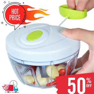 Food Speedy Chopper Fruit Vegetable Onion Garlic Cutter Spiral Slicer Kitchen US