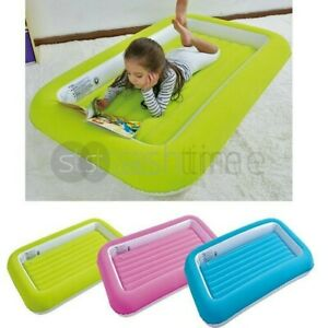 Kids Children Inflatable Flocked KIddy Airbed Safety Toddlers Camping Air Bed UK