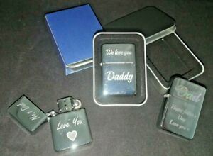 Personalised Star lighter engraved gift Fathers day Daddy dad name text message