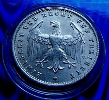 ERROR DIE BREAKS ACROSS EAGLE 1923 A  German 200 Mark Eagle Coin 23mm w HOLDER