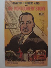 "MARTIN LUTHER KING  GENUINE HAND SIGNED BOOKLET  ""THE MONTGOMERY STORY"""