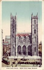 NOTRE DAME CHURCH EGLISE MONTREAL QUEBEC CANADA 1926