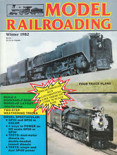 MODEL RAILROADING WINTER 1982 - 3 TRACK PLANS, WEATHERING, BN GP20, UP GP30 8444