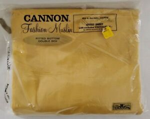 Cannon Fashion Muslin Double Size Fitted Bottom Sheet Mustard Yellow