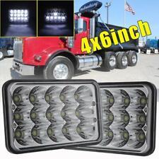 """2X DOT 4x6"""" LED Headlight Hi/Lo Beam H4 For T800 T400 T600 W900B W900L Truck Vav"""