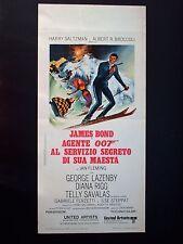 Locandina Originale-AGENTE 007 AL SERVIZIO SEGRETO DI SUA MAESTA-1969-JAMES BOND