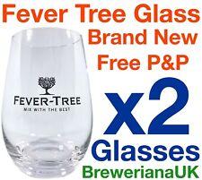 Set Of 2 Fever Tree Tonic Glasses Brand New 100% Genuine Official Super Rare