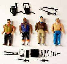 New listing 1983 Galoob A-Team Action Figures 6� Lot of 4 w/ Accessories