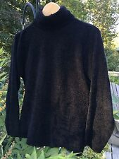 Country Road ~ 100% Polyester ~ Velour ~ Medium ~ Black ~ Sweater ~ Classic