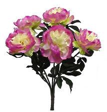 "22"" Peony Bush ~ MANY COLORS ~ Bride Bouquets Wedding Silk Flowers Centerpieces"