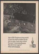Champion Spark Plugs - 1964 Vintage Print Ad