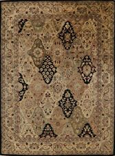 Garden Design Oriental Agra Hand-Tufted Wool Area Rug 9'x12' Dining Room Carpet
