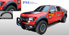 BLACK TEXTURED Pocket Rivet Bolt Fender Flares 2010-2014 Ford F-150 RAPTOR ONLY