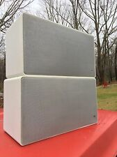 PAIR Vintage 1960s BRAUN L625 speakers HIFI Dieter Rams SNOW WHITE mid Century