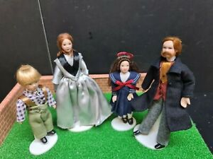 dolls house accessories Victorian family of four 1.12th SA