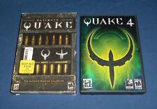 Ultimate Quake & Quake 4 ~ PC Game Lot ~ NM Discs! Quake 1 2 3 Arena Collection