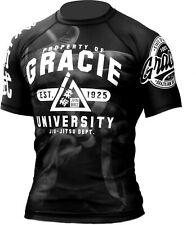 Gracie University BJJ Rash Guard Grappling Brazilian Jiu Jitsu MMA UFC Rashguard