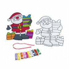 4 SANTA Peel Off appiccicoso Sand & Glitter ART LENZUOLA Bambini Natale Craft Collage