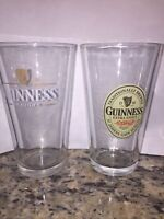 GUINNESS Pint/16 oz Beer Glass - Lot Of 2 Different Designs