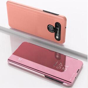 For LG K41S K61 V60 K50S V50 Clear Smart Mirror Leather Flip Stand Case Cover