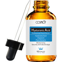 30% VITAMIN C + E Serum & 100% HYALURONIC ACID AntiAging FERULIC ACID, MSM, 1 oz