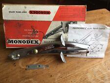 MONODEX LAMIERA Cutter-Stagno Snips-Boxed-NO RISERVA-VINTAGE-Classic