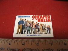 Cheaper by the Dozen 2003 Movie Promotional Button Pin Back Promo Steve Martin