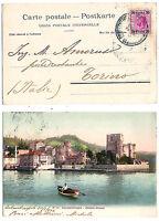 Costantinopoli - francobollo Austria - viaggiata per Torino  nel 1904 -