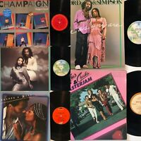 ASHFORD & SIMPSON, Rufus & Shaka, Peaches & Herb, Champaign - 5 LP Vinyl Lot