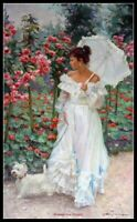 In the Rose Garden - Chart Counted Cross Stitch Pattern Needlework Xstitch DIY