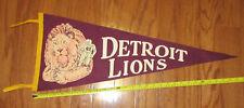 Vintage 1950ish Detroit Lions Felt Pennant