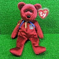 d55698711f6 NEW Ty Beanie Baby Buckingham The Bear Retired Plush Toy - MWMT - FREE  Shipping