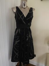 Principles Navy Beige Evening Dress Size 10 Ladies Cocktail ?