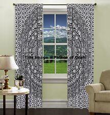 Indian Elephant Mandala Curtains Door Window Curtain Drape Panel Scarf Divider