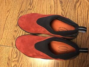Merrell Improv Moc Women's Red Suede Waterproof  Slip On Shoes Size 10