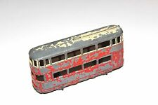 Dinky toys pre war 2 tone tram voiture # 27 avec metal wheels rare!!!