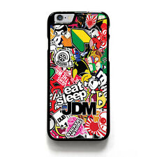 JDM STICKER BOOMS iPhone 4/4S 5/5S 5C 6/6S 7/7S Plus SE Case Phone Cover